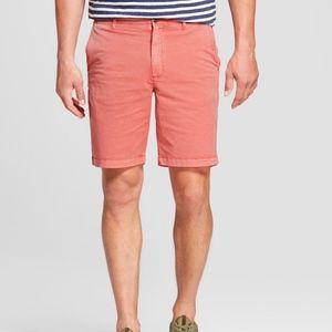 "Men's Chino Shorts 9"" Linden Flat Front Goodfellow"